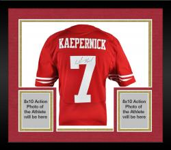 Framed Colin Kaepernick San Francisco 49ers Autographed Nike Red Authentic Jersey