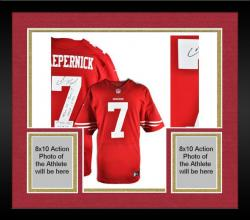 Framed Colin Kaepernick Signed Authentic Jersey - Multiple Inscriptions