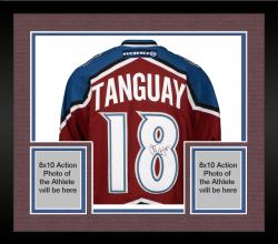 Framed Colorado Avalanche Alex Tanguay Autographed Jersey