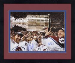 "Framed Colorado Avalanche Patrick Roy and Ray Bourque Autographed 16"" x 20"" Photo"