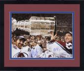 """Framed Colorado Avalanche Patrick Roy and Ray Bourque Autographed 16"""" x 20"""" Photo"""