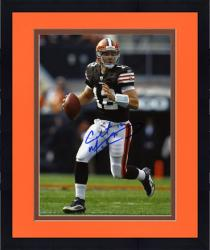 "Framed Colt McCoy Cleveland Browns Autographed 8"" x 10"" Running Photograph"