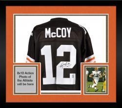 Framed Colt McCoy Cleveland Browns Autographed Brown Jersey