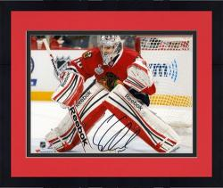 "Framed Corey Crawford Chicago Blackhawks 2013 NHL Stanley Cup Final Champions 8"" x 10"" Autographed Action Photograph"