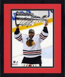 "Framed Corey Crawford Chicago Blackhawks 2013 NHL Stanley Cup Final Champions 8"" x 10"" Autographed Photograph"