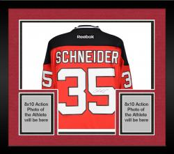 Framed Cory Schneider New Jersey Devils Autographed Red Reebok Premier Jersey
