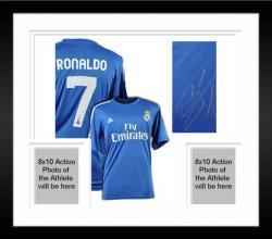 Framed Cristiano Ronaldo Autographed Jersey