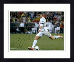 Framed Cristiano Ronaldo Real Madrid Autographed 16'' x 20'' Kicking Photograph