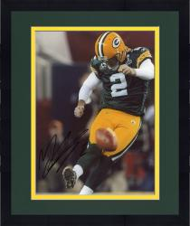 Framed Mason Crosby Green Bay Packers Fanatics Authentic Autographed 8'' x 10'' Kicking Off Photograph