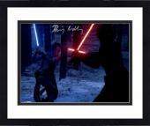 "Framed Daisy Ridley Autographed 11"" x 14"" Star Wars The Force Awakens Fighting Kylo Ren Photograph - Beckett"