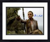 "Framed Daisy Ridley Autographed 11"" x 14"" Star Wars The Force Awakens Holding lightsaber Photograph - Beckett"