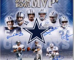 "Framed Dallas Cowboys 6 Super Bowl MVPs Autographed 20"" x 24"" Photograph"