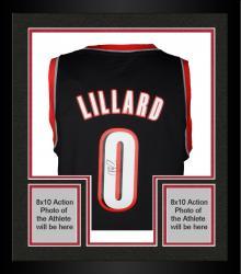 Framed Damian Lillard Portland Trail Blazers Autographed adidas Swingman Black Jersey