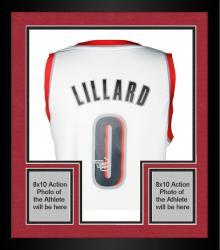 Framed Damian Lillard Portland Trail Blazers Autographed adidas Swingman White Jersey