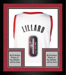 Framed Damian Lillard Portland Trail Blazers Autographed Adidas Swingman White Jersey with 2012-13 ROY Inscription