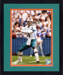 """Framed Damon Huard Miami Dolphins Autographed 8"""" x 10"""" Throwing Photograph"""