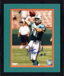 Framed Damon Huard Miami Dolphins Autographed 8x10 Photograph