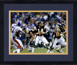 Framed Dan Fouts San Diego Chargers Autographed 16'' x 20'' Photograph with HOF 1993 Inscription