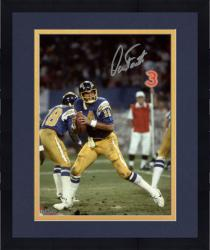 Framed Dan Fouts San Diego Chargers Autographed 8'' x 10'' Dropping Back Photograph