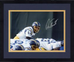 Framed Dan Fouts San Diego Chargers Autographed 8'' x 10'' Over Center Photograph