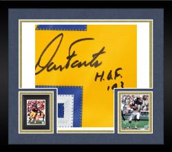 Framed Dan Fouts San Diego Chargers Autographed Reebok Navy Jersey with HOF 93 Inscription