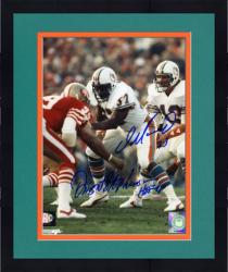 "Framed Dan Marino & Dwight Stephenson Autographed 8"" x 10"" vs San Francisco 49ers Photograph"