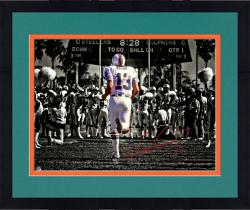 "Framed Dan Marino Miami Dolphins Autographed 11"" x 14"" At Orange Bowl Photograph"