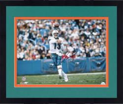 "Framed Dan Marino Miami Dolphins Autographed 16"" x 20"" Horizontal Action Photograph"