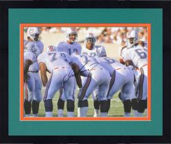 "Framed Dan Marino Miami Dolphins Autographed 16"" x 20"" Huddle Shot Photograph"