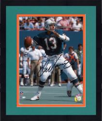 "Framed Dan Marino Miami Dolphins Autographed 8"" x 10"" Black Ink Photograph"