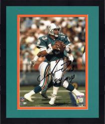 "Framed Dan Marino Miami Dolphins Autographed 8"" x 10"" Black Ink Photograph with 84 MVP Inscription"