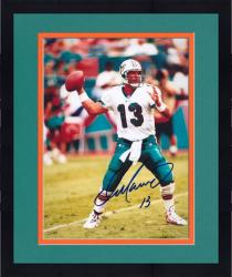 "Framed Dan Marino Miami Dolphins Autographed 8"" x 10"" Drop Back Photograph -"