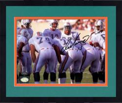 "Framed Dan Marino Miami Dolphins Autographed 8"" x 10"" Huddle Photograph"