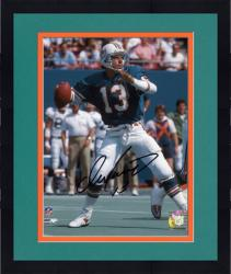 "Framed Dan Marino Miami Dolphins Autographed 8"" x 10"" Passing Old Aqua Uniform Photograph"