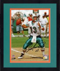 """Framed Dan Marino Miami Dolphins Autographed 8"""" x 10"""" Passing on Dirt Photograph"""