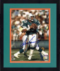 "Framed Dan Marino Miami Dolphins Autographed 8"" x 10"" Passing Photograph"