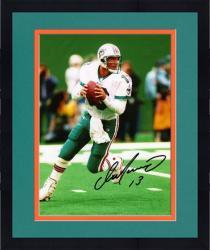 "Framed Dan Marino Miami Dolphins Autographed 8"" x 10"" vs New York Jets Photograph"