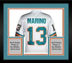 Framed Dan Marino Miami Dolphins Autographed Pro-Line White Jersey