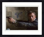 "Framed Daniel Craig Autographed 8"" x 10"" Casino Royale Pointing Gun Photograph - Beckett COA"