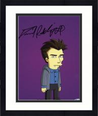 """Framed Daniel Radcliffe Autographed 8""""x 10"""" The Simpsons Character Photograph - Beckett COA"""
