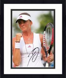 "Framed Daniela Hantuchova Autographed 8"" x 10"" Holding Racket Nike Visor Photograph"