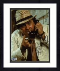 """Framed Danny DeVito Autographed 8"""" x 10"""" On Phone Holding Cigarette Photograph - Beckett COA"""