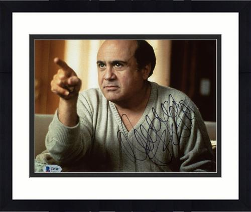 """Framed Danny DeVito Autographed 8"""" x 10"""" Pointing Finger Photograph - Beckett COA"""
