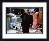"Framed Danny DeVito Autographed 8"" x 10"" Pointing Gun  Photograph - Beckett COA"