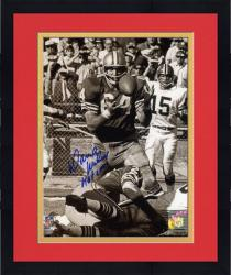 "Framed Dave Wilcox San Francisco 49ers Autographed 8"" x 10"" Catching Ball Photograph with HOF 2000 Inscription"
