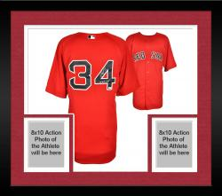 Framed David Ortiz Boston Red Sox Autographed Majestic Authentic Red Jersey with 13 WS MVP Inscription