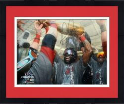 Framed David Ortiz Boston Red Sox 2013 World Series Champions Autographed 16'' x 20'' Champagne Photograph