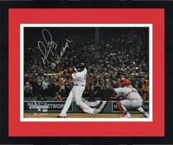 """Framed David Ortiz Boston Red Sox 2013 World Series Champions Autographed 16"""" x 20"""" Home Run Swing 2 Photograph with 2013 WS MVP Inscription"""
