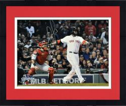 Framed David Ortiz Boston Red Sox 2013 World Series Champions Autographed 16'' x 20'' Home Run Swing Photograph