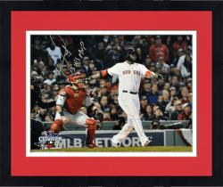 "Framed David Ortiz Boston Red Sox 2013 World Series Champions Autographed 16"" x 20"" Home Run Swing Photograph with 2013 WS MVP Inscription"